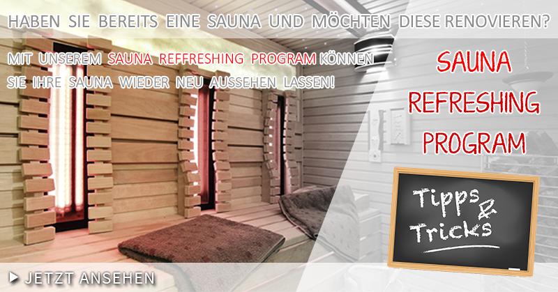 Bei uns können Sie Ihre Sauna wieder neu aussehen lassen!  #Saunaking #SaunaRefreshingProgram