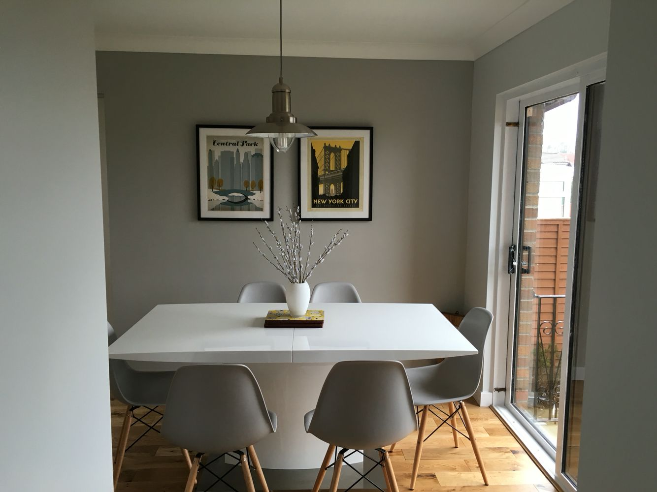 Grey White And Oak Kitchen Dining Room With White Gloss Table New Mustard Dining Room Design Decoration