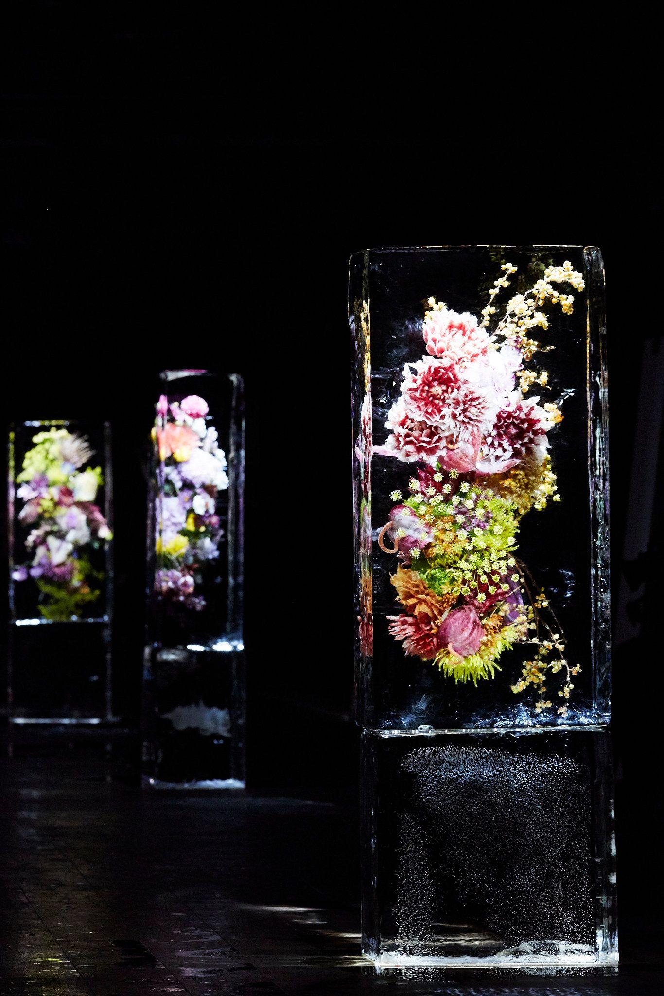 "Azuma Makoto's ""Iced Flowers"" at Dries Van Noten. Nature ArtistsAzuma MakotoThe  JapaneseParis Fashion WeeksSculpturesMagazinesVansFlower ArtistsCloche"