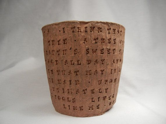 Trees  Joyce Kilmer Poem  Woodgrain Bowl by BraidwoodPottery