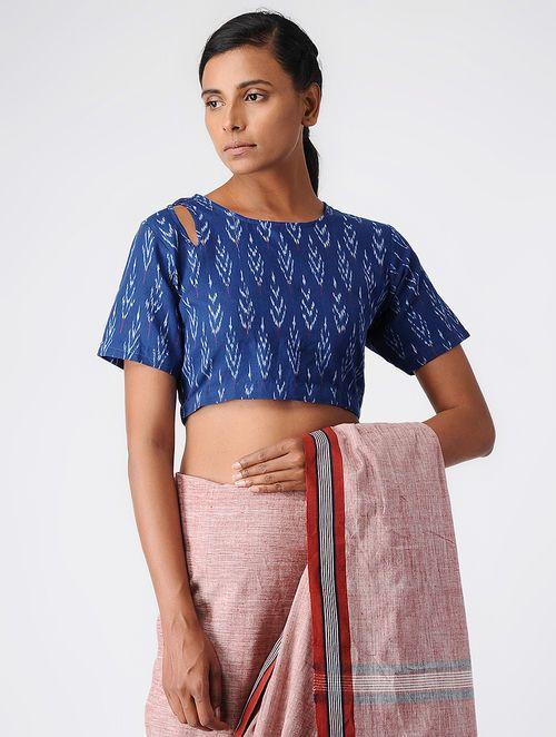 f38f955827461 Buy Blue Handloom Cotton Ikat Blouse by Jaypore Online