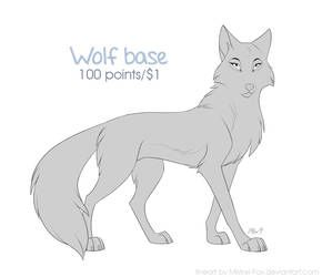 Photo of [P2U] Yet another wolf base by Mistrel-Fox on DeviantArt