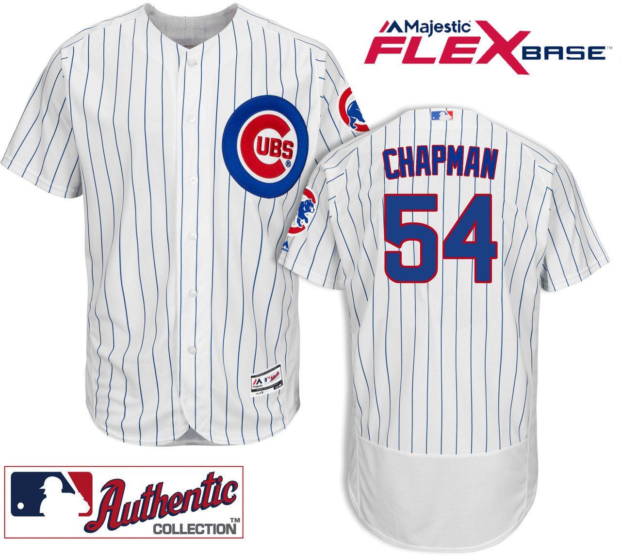 timeless design e84ec 79d08 Aroldis Chapman Chicago Cubs Home Authentic Flexbase Jersey ...
