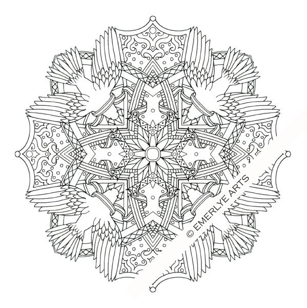Quot Dove Quot Mandala Coloring Page Can You Find All The Symbols