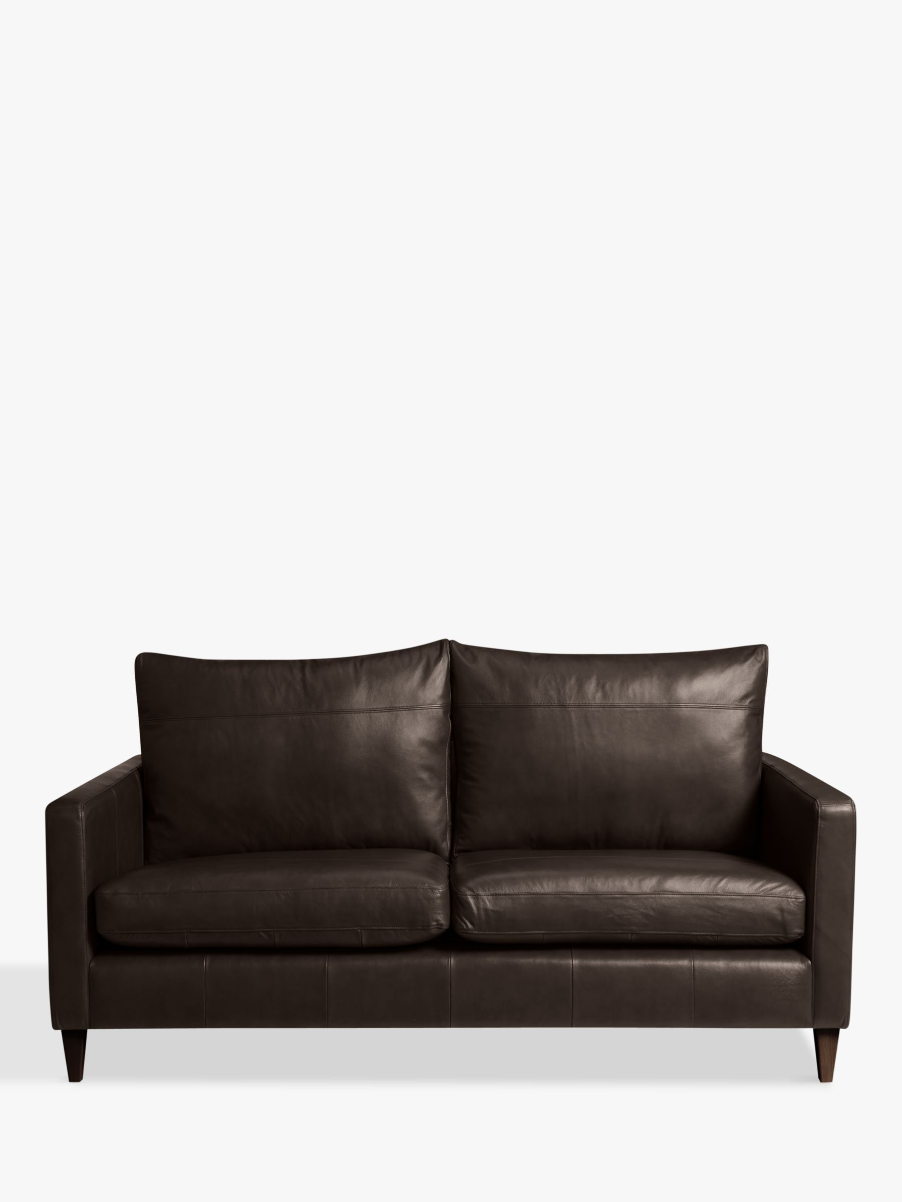 John Lewis Partners Bailey Medium 2 Seater Leather Sofa Dark Leg Leather Sofa 3 Seater Leather Sofa Sofa