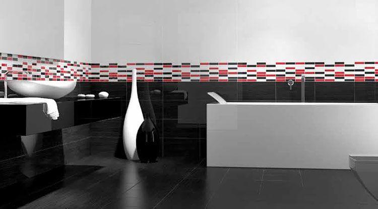 Formatos 20x40 Fashion Estancias Banos Moderna Y Atrevida Combinacion De Piezas Ceramicas Para El Cu Diseno De Interiores Banos Banos Modernos