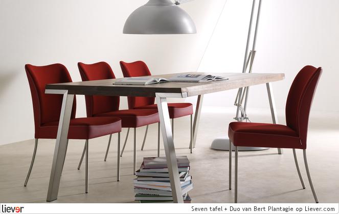 Design Tafel Stoelen : Bert plantagie seven tafel duo bert plantagie stoelen ideeën