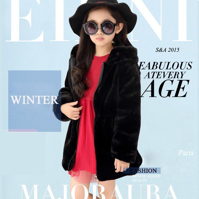 2424b9890a6c8 Girls winter coat fashion kids jacket for girls faux fur coat girls clothes  overcoat childrens clothing kids clothes outerwear