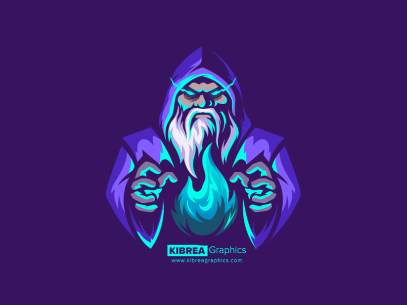 Wizard Mascot Logo Logo Design Art Wizards Logo Game Logo Design