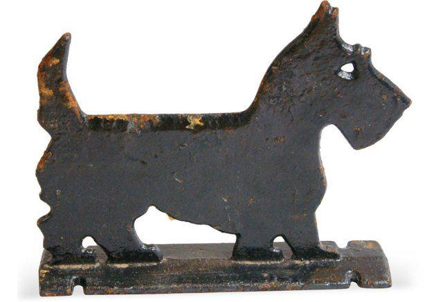 Iron Scottish Terrier Doorstop/Scraper