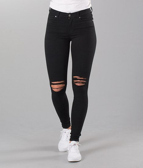 e5dcc8f2 Dr Denim Lexy Bukser Black Ripped Knees in 2019 | + w a n t s + ...