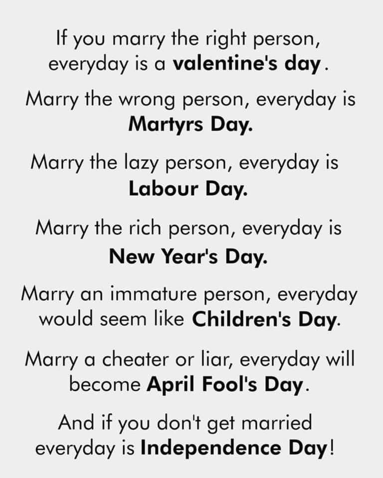 Pin By Tonee Ariel Gwinn On Wisdom Wit Valentines Day Memes Funny Valentine Marrying The Wrong Person