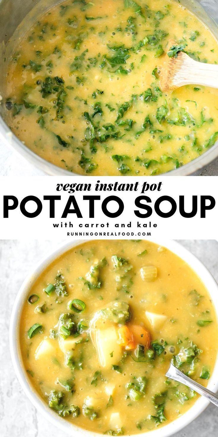 """Instant Pot Grünkohl-Kartoffelsuppe Leichte, gesunde rohe vegane """"Twix"""" -Riegel mit... #finecooking"""
