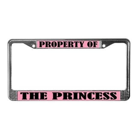 Property Of The Princess License Frame By Homewiseshopper
