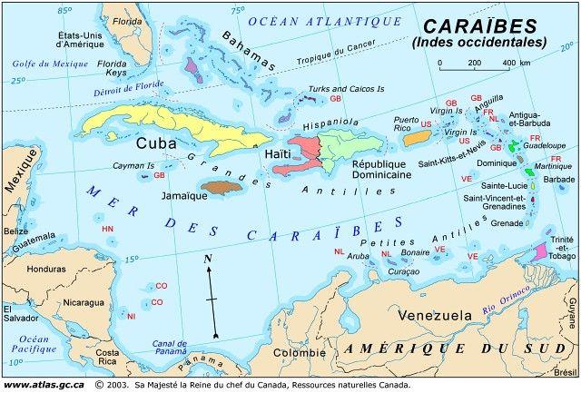 Caraibes Jpg 640 433 Pixels Caraibes Golfe Du Mexique Carte