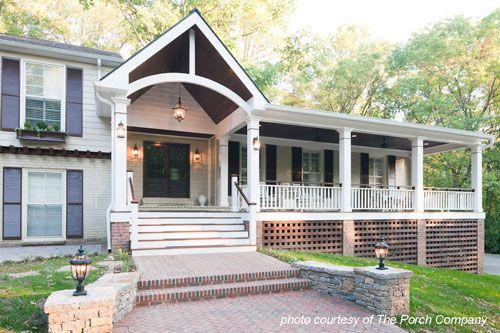 Front Porch Designs For Split Level HomesHome Furniture Design ... | Front  Porch | Pinterest | Porch Designs, Front Porches And Porch