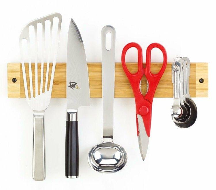 Magnetic Strip Wood Kitchen Utensils Kitchenware Knife Magnet Fits Knives  Dkk Mount The