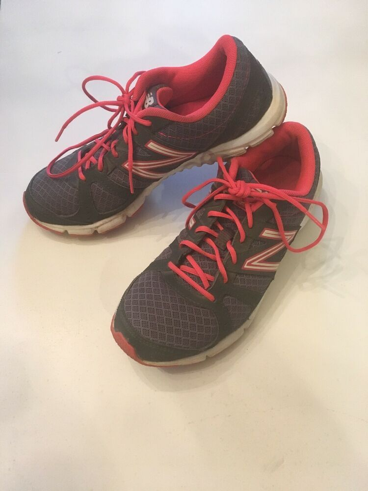 Gray Pink White Running Shoes