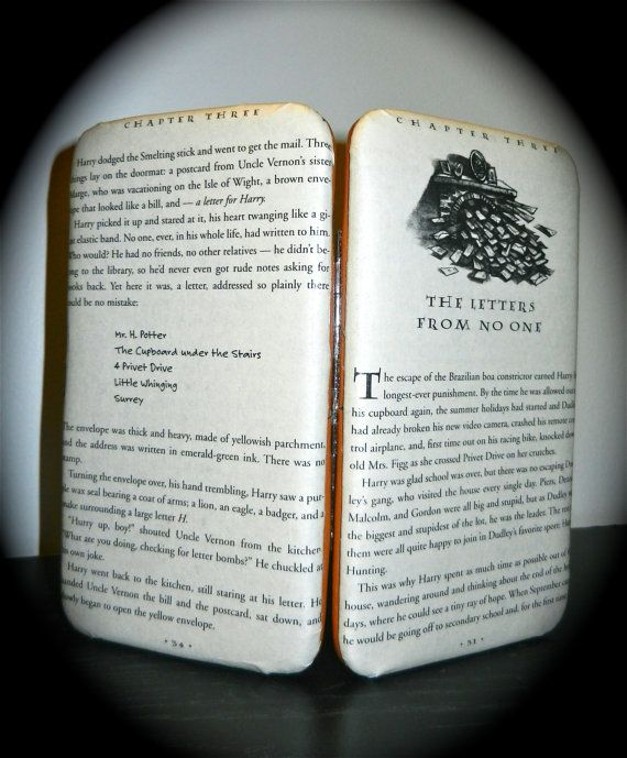Harry Potter Book Page Clasp Wallet The Letters From No One Etsy Harry Potter Book Rowling Harry Potter Harry