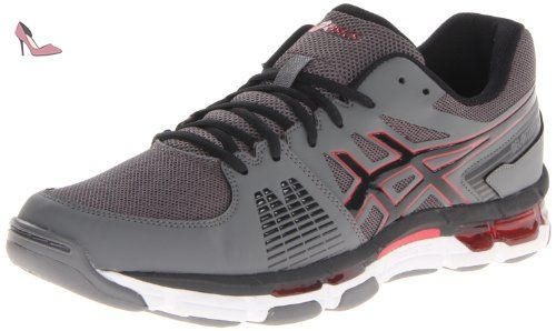Asics Gel-Intensity 3 Hommes Synthétique Baskets, Titanium/Onyx/Red, 41.5