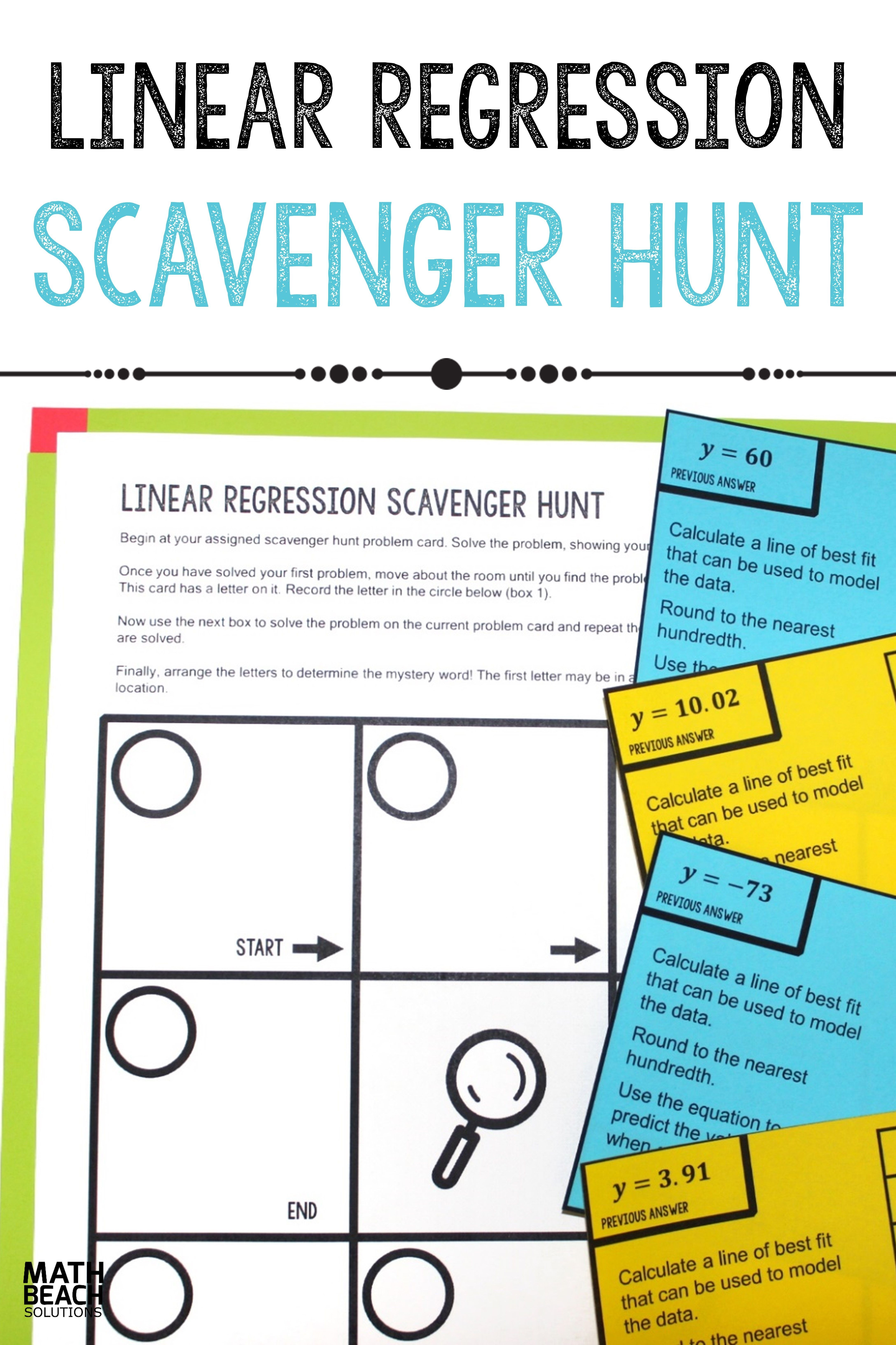 Linear Regression Scavenger Hunt Activity