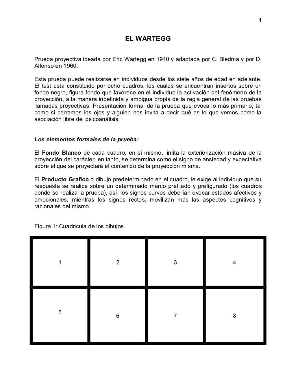 Manual Test De Wartegg Textos Educacao