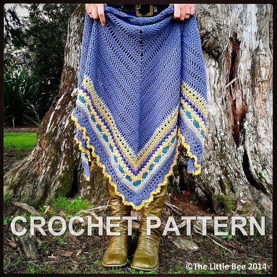 Crochet Shawl Pattern ~ Instant Download ~ Sunday Shawl | crochet ...