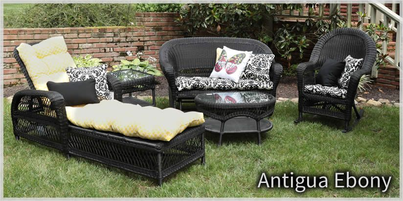 trees and trends patio furniture. Delighful Trends Erwin U0026 Sons  Antigua Ebony Wicker Outdoor Patio Furniture Sold At Trees N  Trends Or Wwwtreesntrendscom With And H