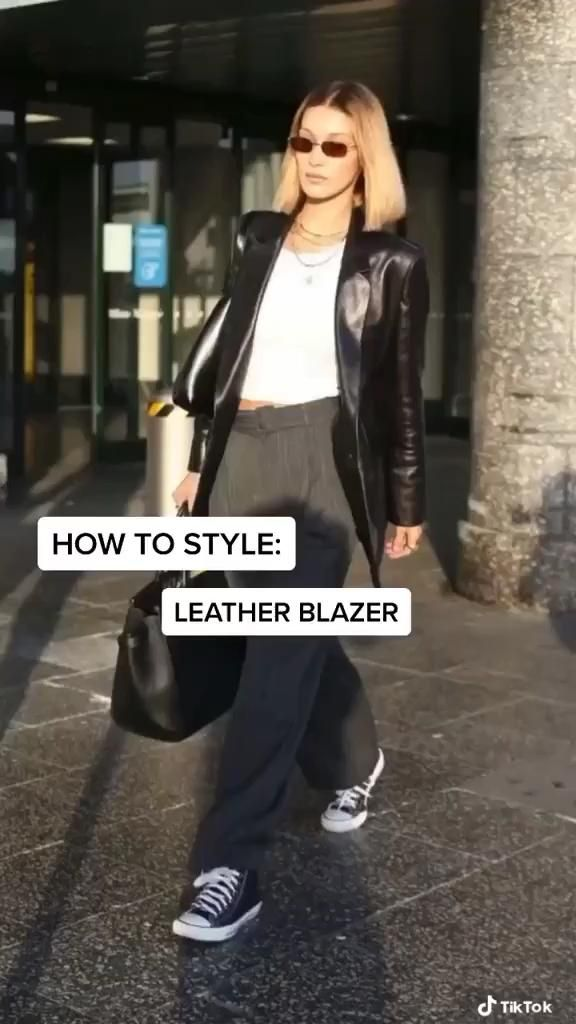 How to style a leather blazer
