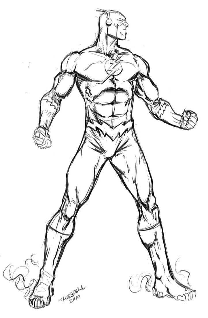 Color Superhero The Flash Coloring Pages For Kids