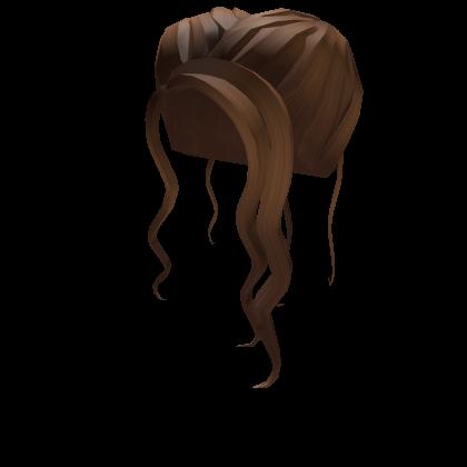 1 Shimmering Brown Boho Bun Roblox In 2020 Boho Bun Brown Hair Roblox Girl Hair Colors