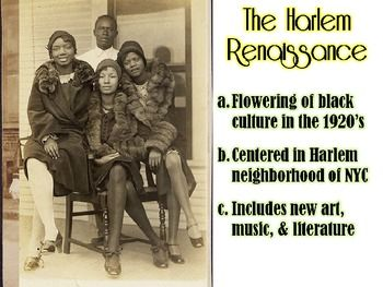 Roaring 20's and Harlem Renaissance Powerpoint ...
