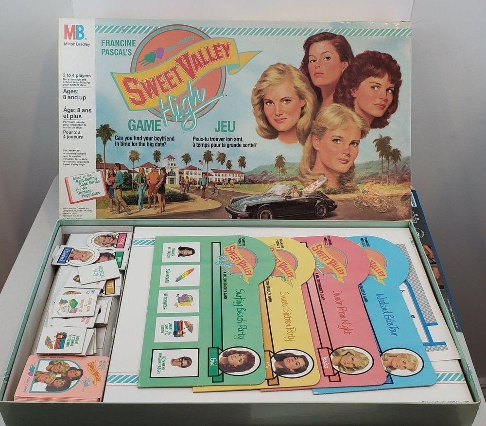 Sweet valley high board game 1988 Milton Bradley Francine