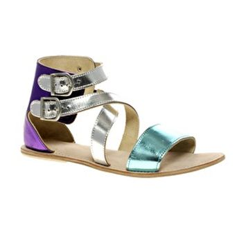 Chic Metallic Sandals. Also, I'm obsessed with this website (asos.com)