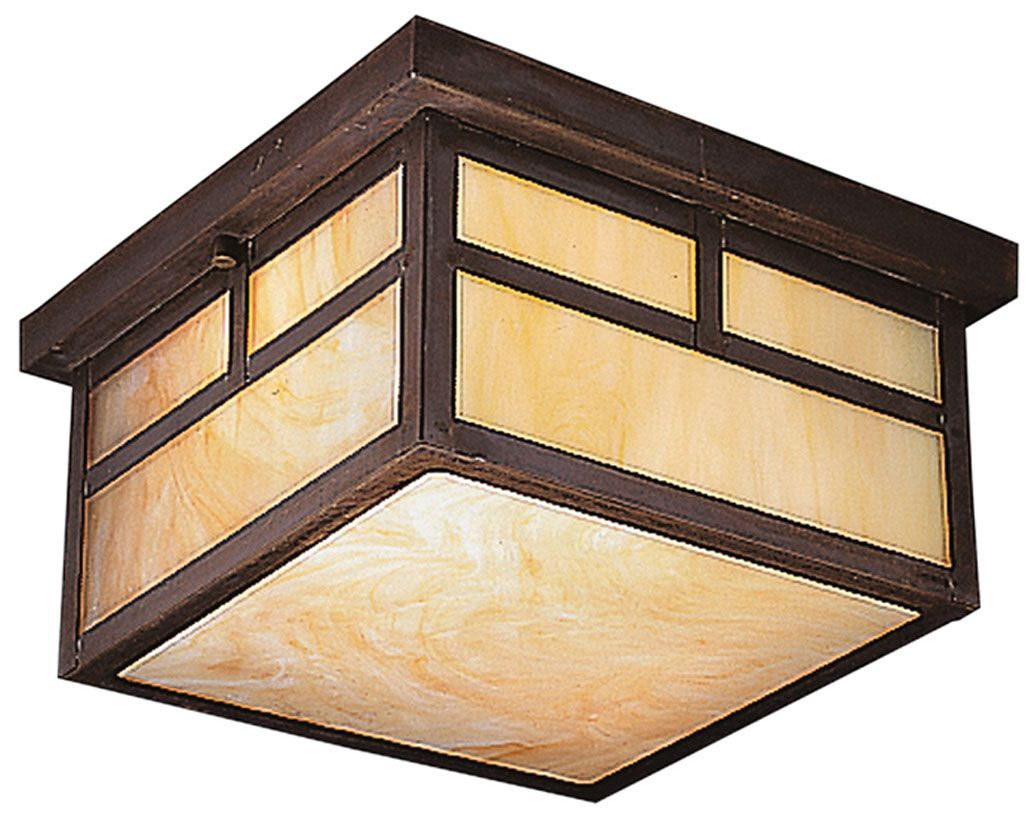 Kichler 9825cv la mesa outdoor 6 inch tall craftsman flush lighting kichler 9825 2 light outdoor ceiling fixture from the la mesa collection canyon view outdoor lighting ceiling fixtures flush mount mozeypictures Image collections