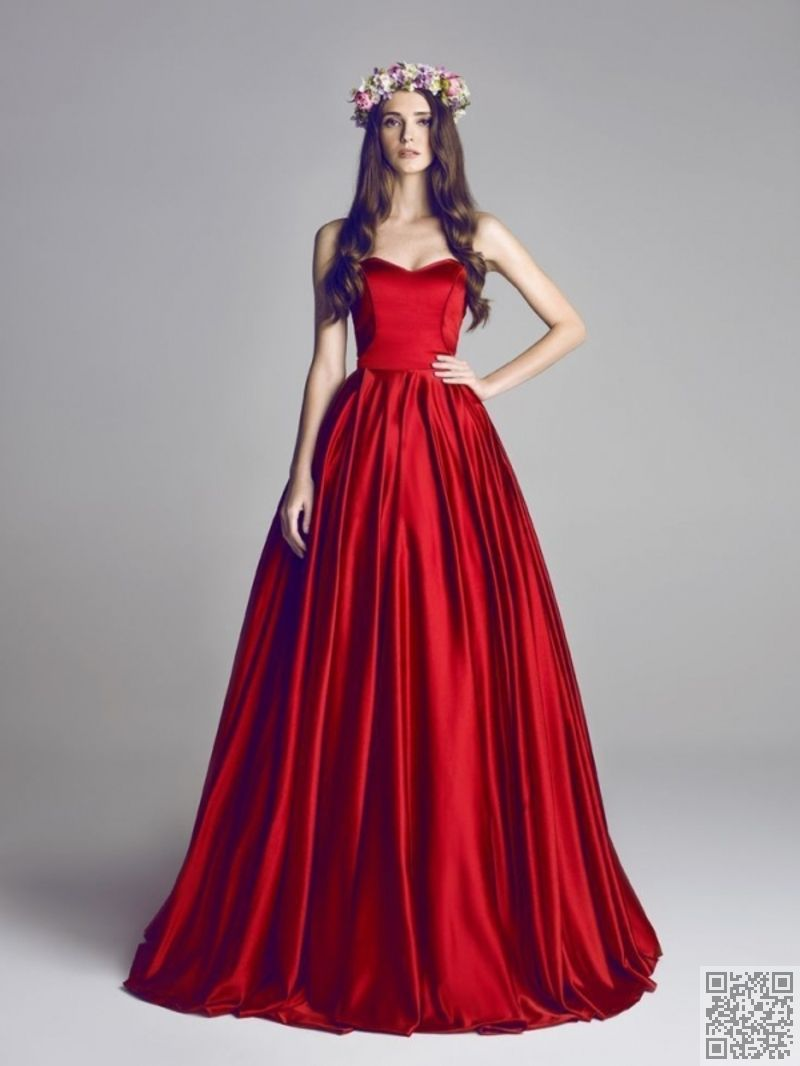 simple design of the most stunning red ball gowns in the