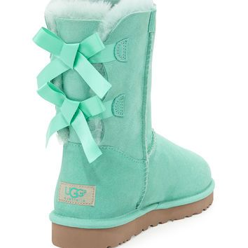 440f5afbe61 UGG Australia Bailey Bow-Back Short Boot, Aqua | Shoes♕ | Boots ...