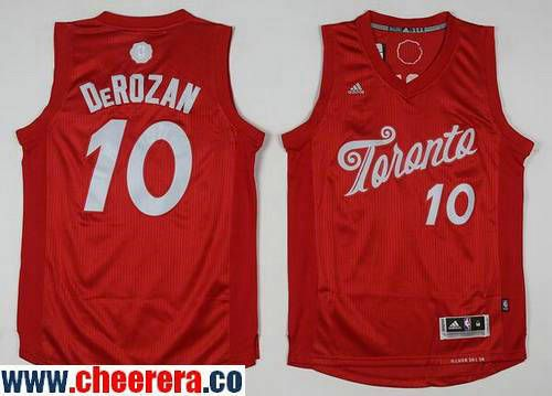 a787d0b42 Men s Toronto Raptors  10 DeMar DeRozan adidas Red 2016 Christmas Day Stitched  NBA Swingman Jersey