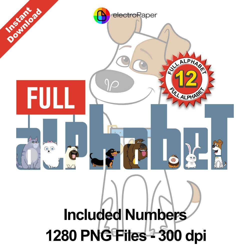 The Secret Life Of Pets Full Alphabet Clipart 1280 Png Files