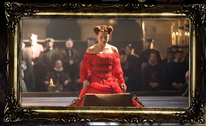 Mary Queen of Scots Execution Martyr Red Dress Samantha Morton Elizabeth: Golden Age