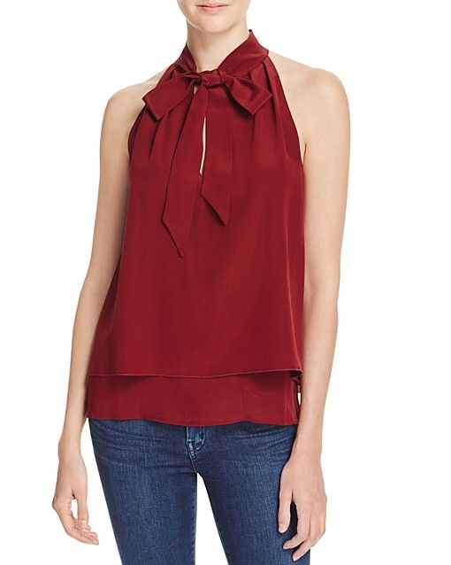 cf764eaf8c347a Chelsea And Walker Layered Silk Bow Top - 100% Bloomingdale s Exclusive