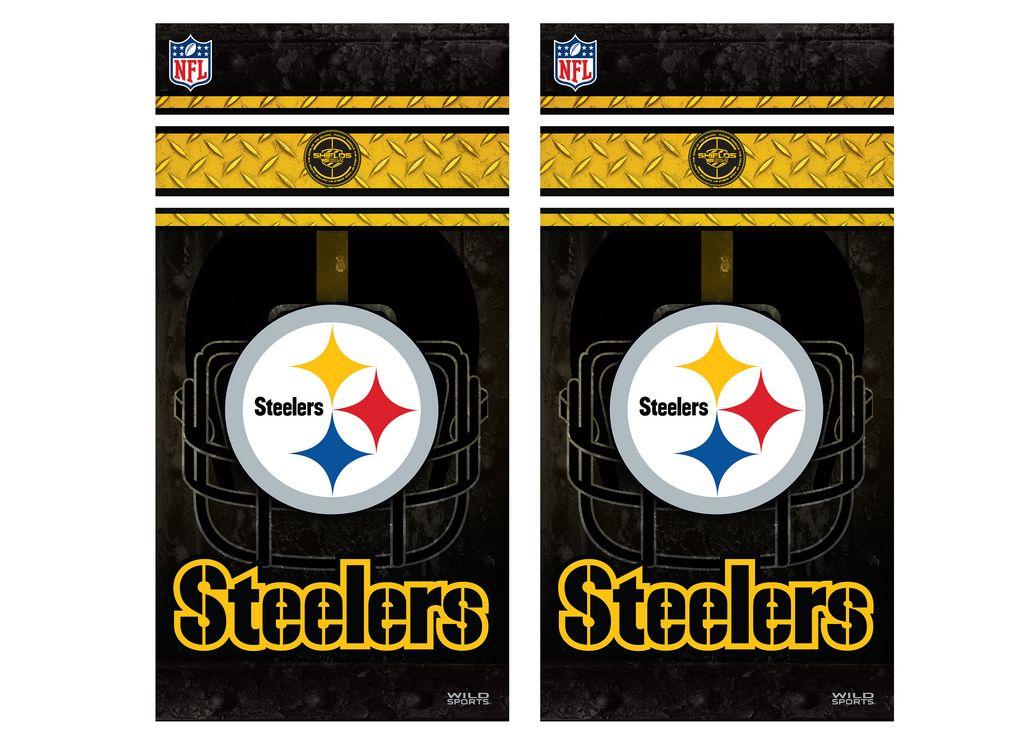 "2 Pittsburgh Steelers Football Car Truck 12/"" x 12/""  Sticker Decal Pa Corn Hole"