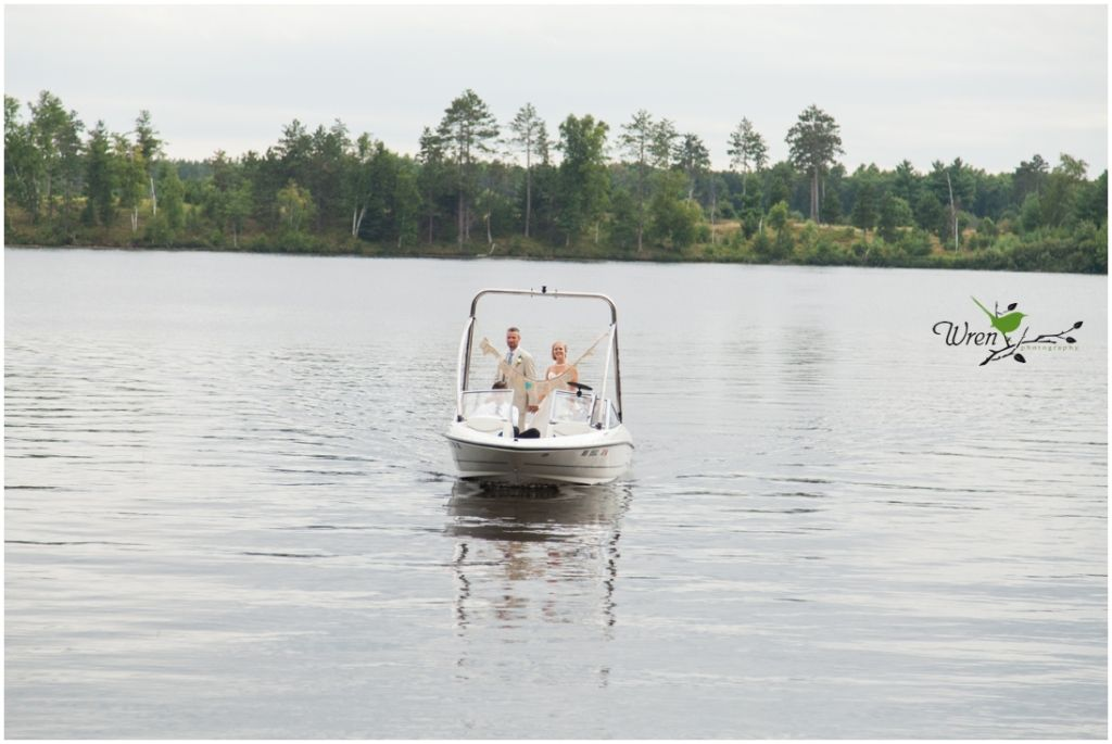 Now that's one way to make an reception entrance! By boat!
