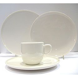 Serve up a scrumptious family meal on this simple yet modern casual dinnerware set from Red Vanilla. This off-white dinnerware set comfortably serves six ...  sc 1 st  Pinterest & Overstock - Everytime White Dinnerware Set gives you everything you ...