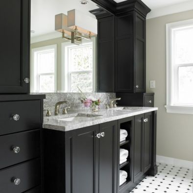 White And Black Bathroom Design, Pictures, Remodel, Decor and Ideas - page 2