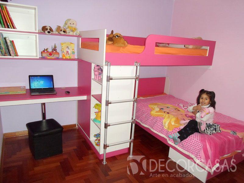 muebles de dormitorio todo en uno. Modulos de dormitorio para niñas ...