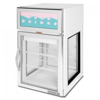 Beverageair Crd5ge1wg One Section Countertop Passthrough Display Refrigerator With 2 Swing Glass Doors 55 C Countertop Display Display Refrigerator Countertops