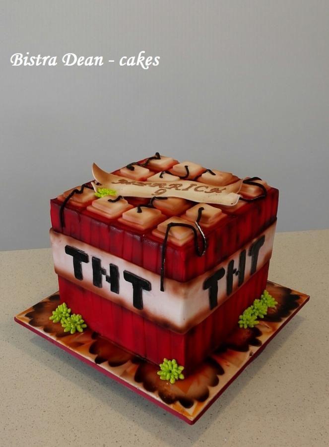 Boooooom a Minecraft cake TNT block by Bistra Dean