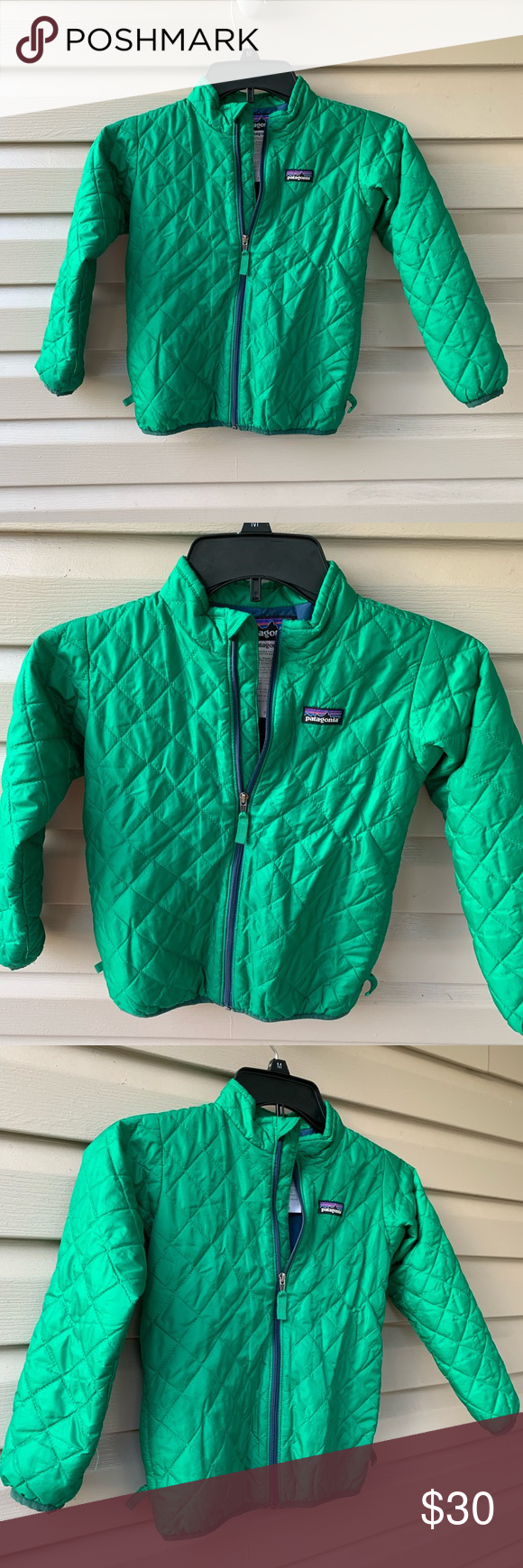 Patagonia Kids 5t Puffer Jacket Green (With images