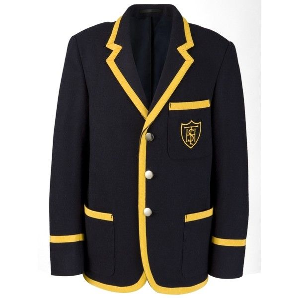 Taverham Hall School Prep Unisex Blazer, Navy ($115) ❤ liked on Polyvore featuring outerwear, jackets, blazers, harry potter, hufflepuff, school blazers, navy blazer, unisex jackets, blazer jacket and navy jacket
